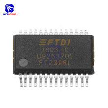 Microplaquetas de ic ft232rl ft232r ft232 usb para circuitos integrados originais de série uart 28-ssop para arduino