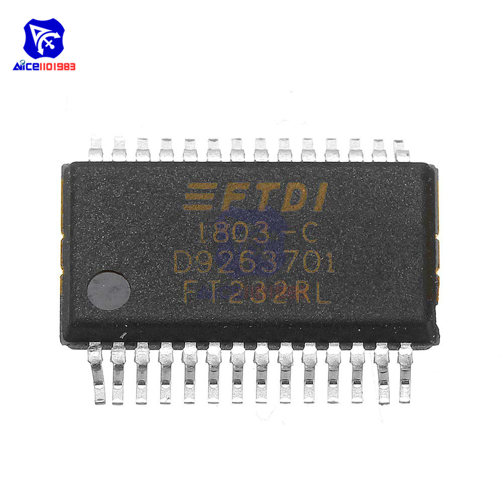 IC <font><b>Chips</b></font> <font><b>FT232RL</b></font> FT232R FT232 USB to Serial UART 28-SSOP Original Integrated Circuits for Arduino image
