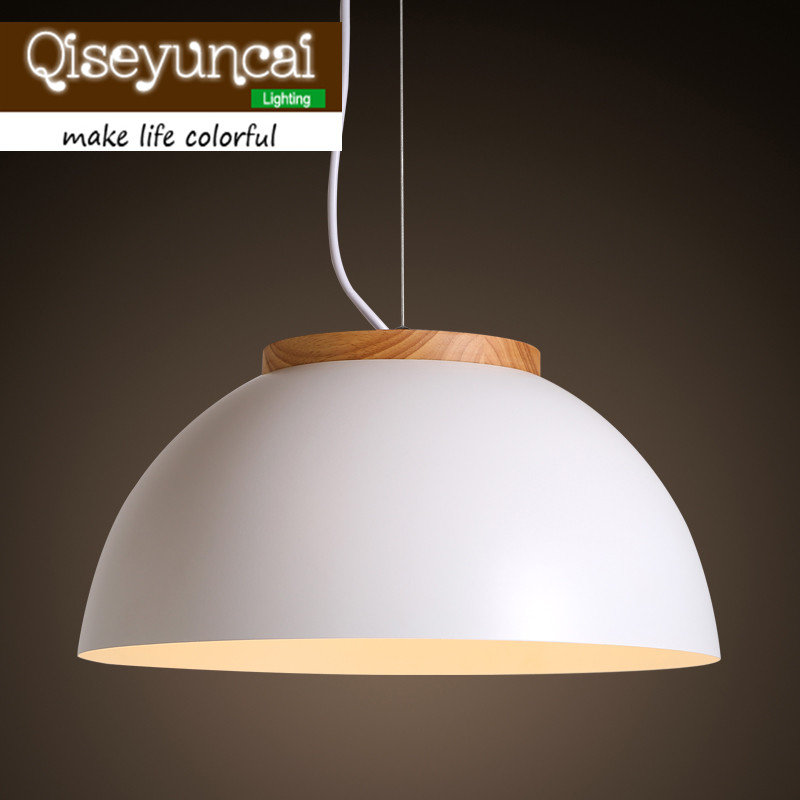 American modern minimalist single head pendant creative tea shop cafe restaurant hanging lamp cover personality Hot pot restaurant cafe meal of lamps and lanterns hanging lamp is acted the role of single head 3 lemon meal hanging lamp