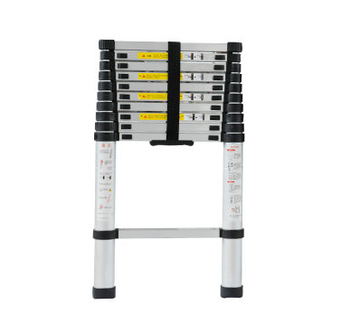 2m Retractable Folding Aluminum Upright Ladder, Multi-purpose Home/library/engineering Ladder