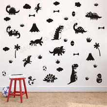Room Decoration Kinds Of Dinosaurs Wall Sticker Cute Decor Removeable Modern Ornament Vinyl Decal Mural Poster LY522