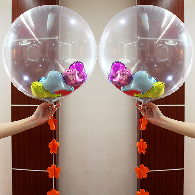 24 Inch 36 Inch Clear Foil Balloons Transparent Aluminum Balloon Wedding Birthday Party Decorations Balon Globos  1pcs