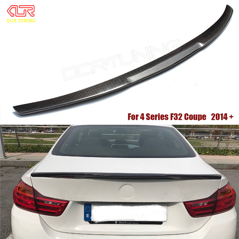 For BMW F32 Carbon Spoiler 4 Series 2 Door Coupe F32 Carbon Fiber Rear Trunk Spoiler M4 Style 2014 2015 2016 - UP 420i 428i 430i 3 series e92 m4 style carbon fiber rear trunk wings spoiler for bmw 3 series e92 2006 2013 2 door coupe model