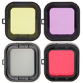 1Pcs Underwater Waterproof Camera Lens Filter for xiaomi yi 4k Yellow Red Purple Grey camera Lens Filter 4colors