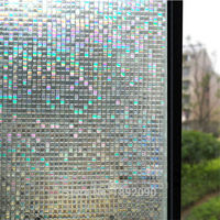 90 200 Cm Opaque Mosaic Embossed Frosted Window Films Pvc Static Cling Self Adhesive Privacy Glass