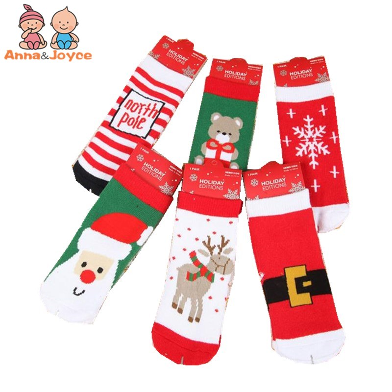Autumn and Winter Combed Cotton Loom Thickened Baby Socks Children In The Tube Gift Christmas Socks TWS0364