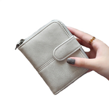 Korean Brand Design Women Faux Suede Leather Wallets Coin Bag Small Wallet Purse Mini Zipper Hasp Short Lady Purse Crad Holder