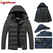Fleece Man's Jackets Outwear 2019 Hot Winter Jacket Men Thicken Warm Men Parkas Hooded Coat Zipper Overcoat Male Hat Detachable