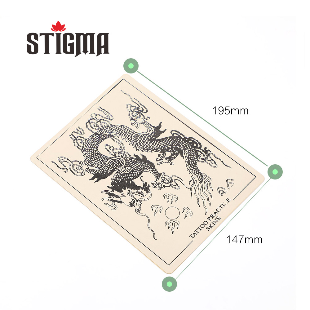 Stigma 2018 Tattoo Machine 5pcs Stencil Practice Skin Silicone Reusable Plain No Picture Blank for Starter Accessories Art Small