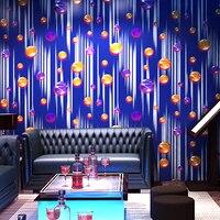 Nieuwe Moderne KTV Wallpapers 3d slaapkamer TV achtergrond Stereo Mode Flash Muur Doek Bar Hotel Fancy Ballroom Doos Thema Muur papier