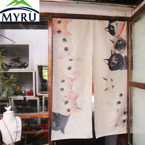 MYRU Japanse katoen deur gordijn creatieve kinderkamer partitie ...