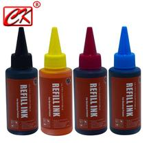 Universal High quality 4 Color 100ml Dye Ink For Canon HP Brother  Lexmark DELL Kodak Inkjet Printer CISS Cartridge Printer Ink