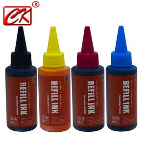Image 1 - Universal High quality 4 Color 100ml Dye Ink For Canon HP Brother  Lexmark DELL Kodak Inkjet Printer CISS Cartridge Printer Ink