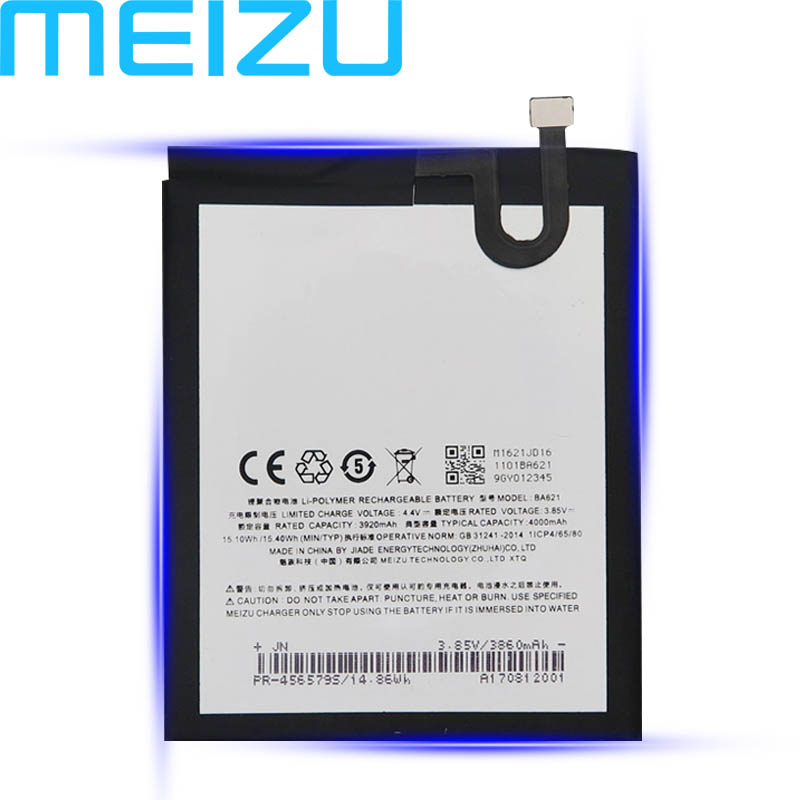 <font><b>Meizu</b></font> 100% Original 4000mAh <font><b>BA621</b></font> Battery For <font><b>Meizu</b></font> Meilan Note5 / M5 Note / Mobile Phone High Quality Battery+Tracking Number image