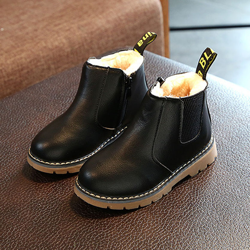 2017 Baby Boots Cute Baby Girls Martin Boots Children Shoes Fashion Kids Botas Winter Flush Kids Shoes Botte Fille
