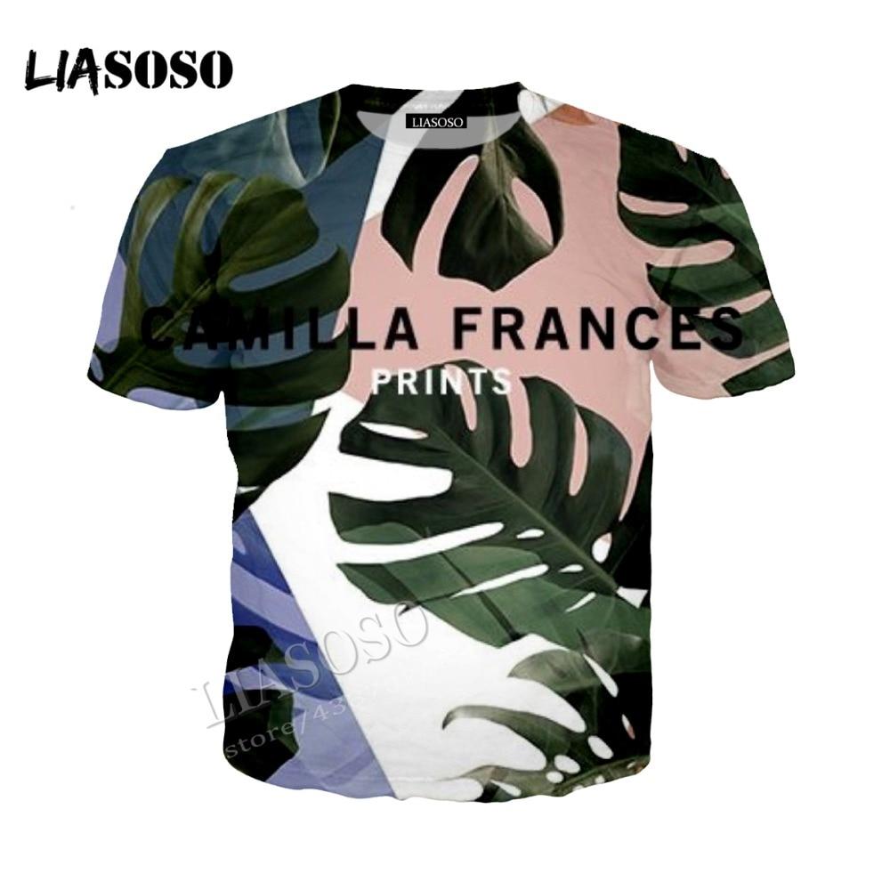 LIASOSO new neutral fashion sweatshirt simple leaf pattern 3D printing short sleeve / top / hooded shirt / zipper hoodie CX088