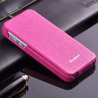 5 Colors Vertical Open Retro Vintage Genuine Leather Cover For Iphone5 Real Natural Cow Skin Phone