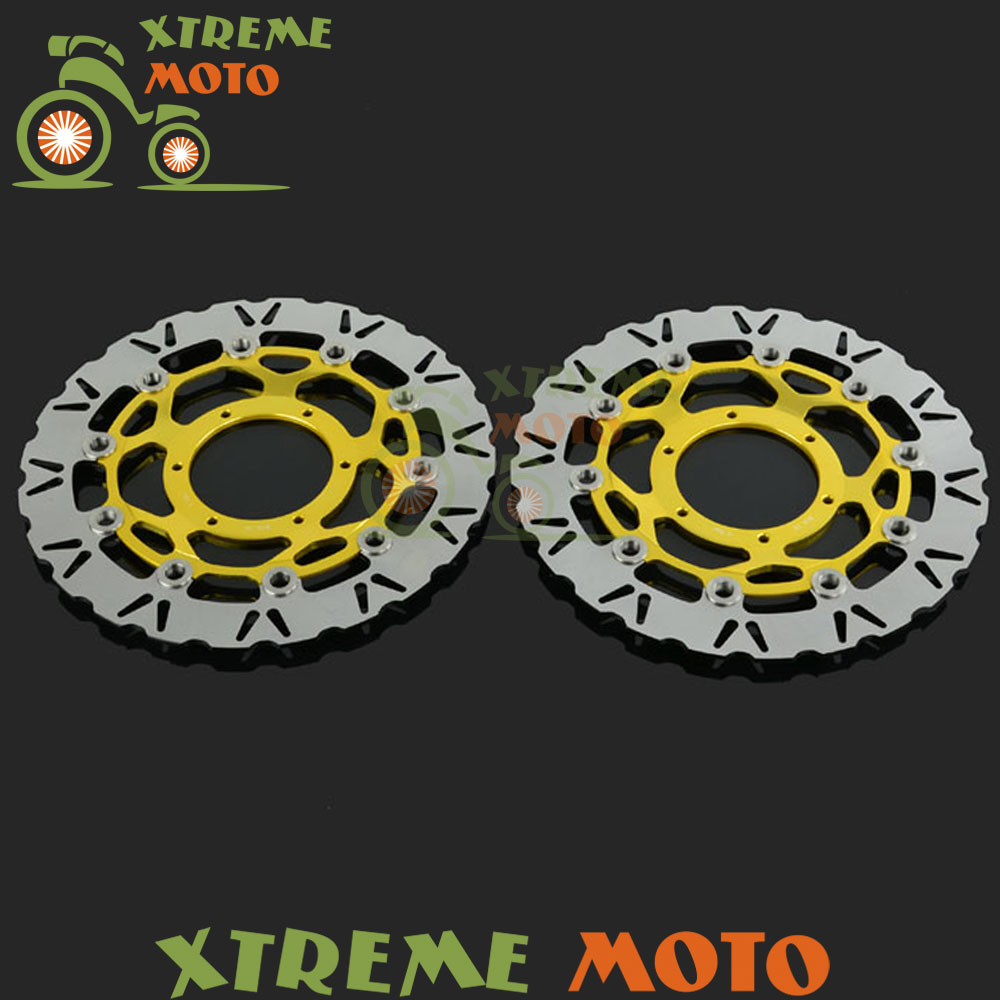 2Pcs Gold Motorcycle Front Floating Brake Disc Rotor For CBR600RR CBR1000RR CB1000R CB1300SF SuperFour CB1284