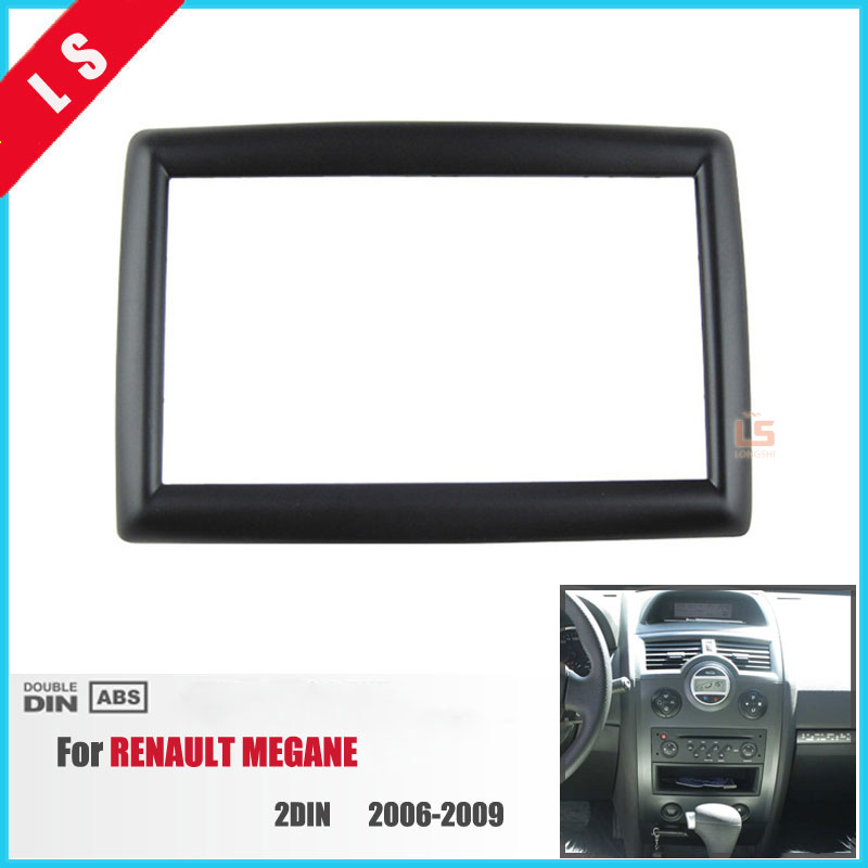 2Din Car Radio Fascia for 2006 2007 2008 2009 RENAULT MEGANE 2 DIN Audio Fitting Adaptor Auto Stereo Installation Trim Bezel|car radio fascia|radio fascia|car fascia - title=