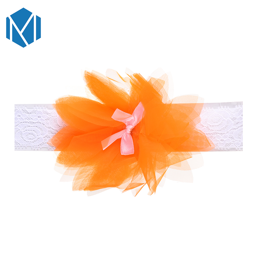 M MISM 1 PC Cute Baby Lace Elastic Hair Band Children Flower Bowknot Crown Headband For Newborn Toddler Hair Accessories in Hair Accessories from Mother Kids