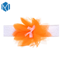 M MISM 1 PC Cute Baby Lace Elastic Hair Band Children Flower Bowknot Crown Headband For Newborn Toddler Hair Accessories m mism new cute 3pcs lace butterfly baby headband fashion hair accessories for newborn wristband foot ring photography head wrap