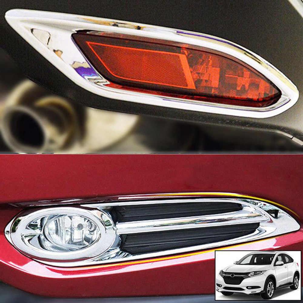Chrome Fog Light Lamp Cover Molding Trim For Honda HR-V HRV 2016-2017 2018 Parts