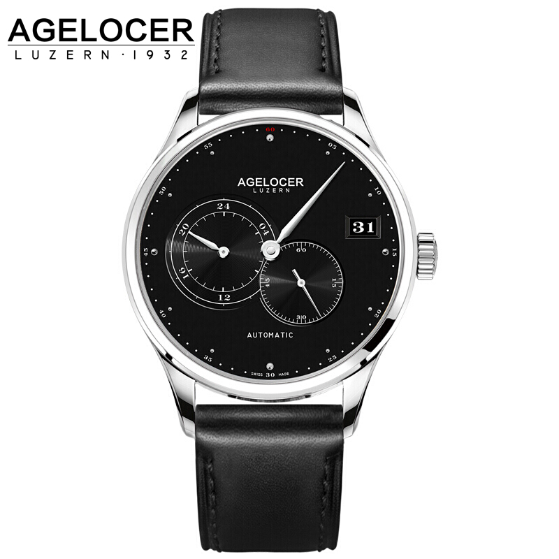 AGELOCER Swiss Luxury Brand Top Men Automatic Wrist watch Mens Fashion Casual Dress Business Watches Man Clock Relogio Masculino forsining date month display rose golden case mens watches top brand luxury automatic watch clock men casual fashion clock watch