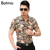2017 new arrival high quality casual golden printed short sleeves men's shirt ,plus-size M,L,XL,XXL,3XL,4XL,5XL,6XL,7XL 3718