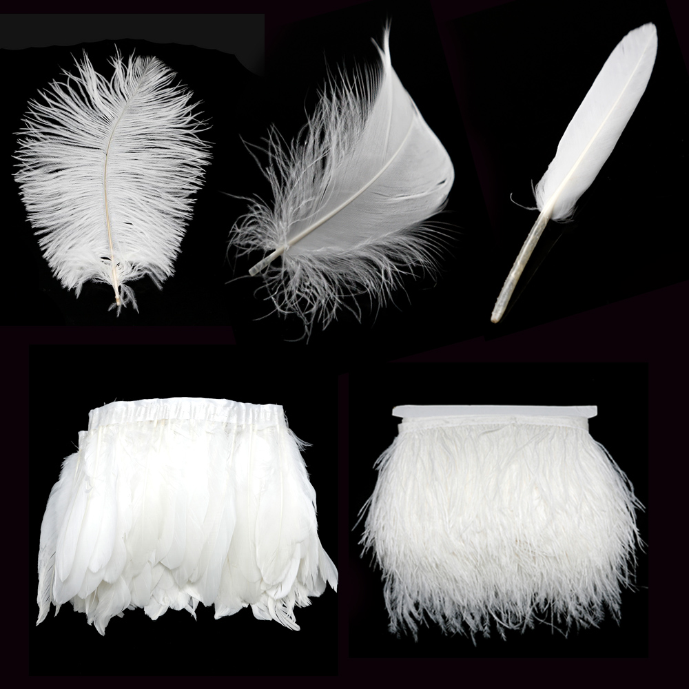 New Arrival White Feather Ostrich/Goose Feather DIY