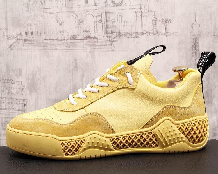 De Hombre Yellow 43 Nueva white Amarillo Moda Británica Primavera 38 Blanco Confort Llegada Diseñador Casual Zapatos Marea CtqwZ5q