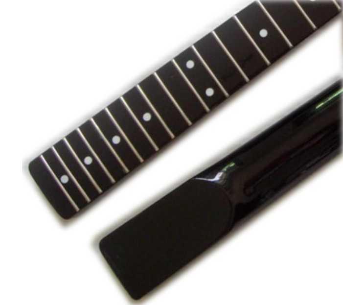 Disado楽器21フレットインレイドット黒いエレキギターカナダメイプルネック卸売ギターアクセサリーパーツ