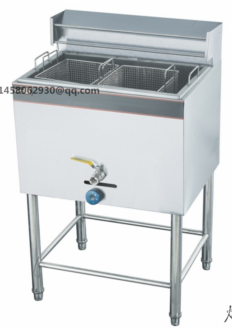 stainless steel commercial gas deep fryer industrial gas fryer fried ...