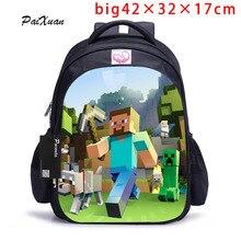 Подросток Minecraft мультфильм рюкзак мальчик мультфильм Школьные ранцы Горячие Основной Рюкзак Школьные ранцы для мальчиков и девочек Mochila SAC DOS