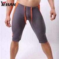 Sport & outdoor männer mesh shorts yoga shorts quick dry shorts breathable männer strumpfhosen spandex elastischen laufhose