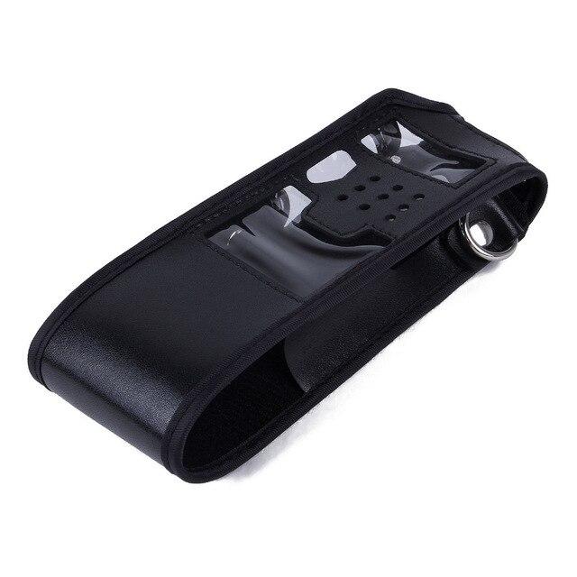 Étendu Transporter En Cuir Étui Souple Étui Pochette pour Baofeng UV-5R UV-5RE Série 3800 mAh Batterie Radio Bidirectionnelle Talkie Walkie