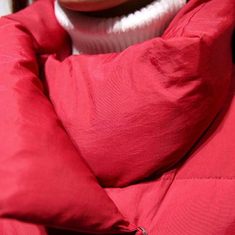 Femmes Coton Mode Red Longue Couleur Ouatée Black wine De Rembourré Veste X1157 Mince Grande Solide D'hiver Femelle Taille Chaud Nouveau wpxBBX