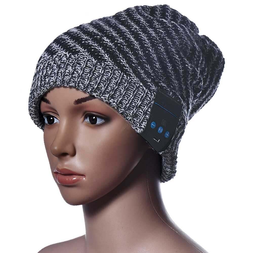 20pcs/lot New Tonsee winter Soft Wool Hat Wireless Bluetooth Headset Headphone Smart Cap Speaker Mic