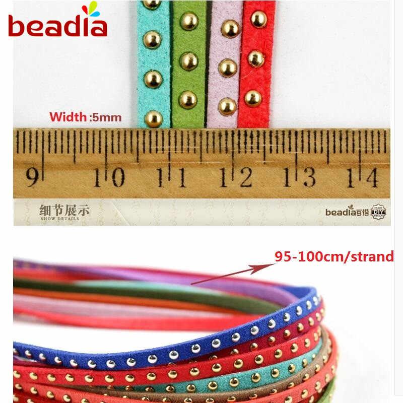 VERKÄUFE 5mm 95 cm Faux Wildleder Schnur DIY Spitze Leder für DIY Tuch Schuhe Halskette Armband Schmuck, Die Entdeckungen zubehör Handwerk