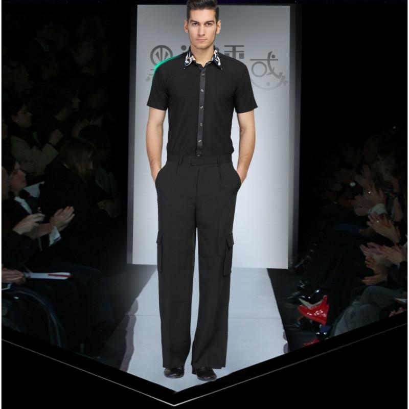 3345a08d1 Mens Dance Shirt Long Sleeved Shirt Male Adult Modern Dance Suit Fashion Latin  Dance Costume Rumba ...