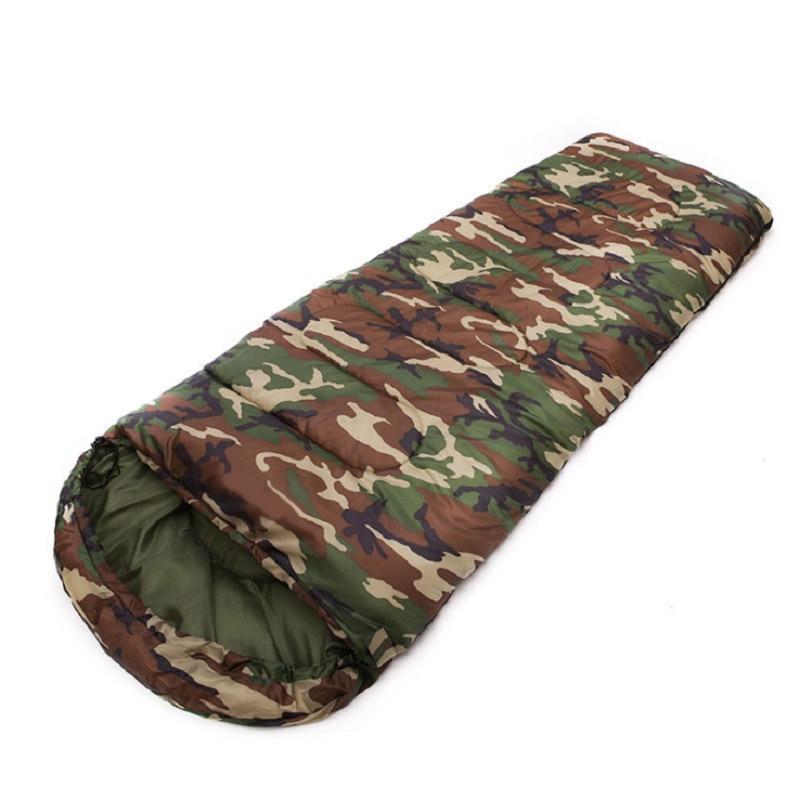ФОТО Outdoor ultralight camping sleeping bag cotton envelope sleeping bag compression bag camouflage sleeping bag 1600g