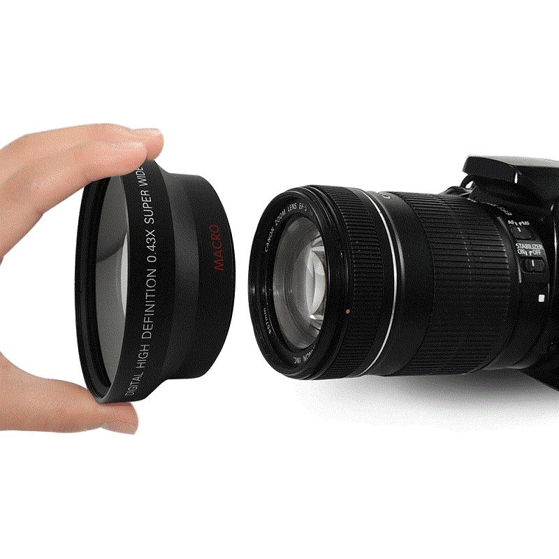 67MM 0.43X široki Angel & makro objektiv + 2.2X telefoto objektiv za - Kamera i foto - Foto 4