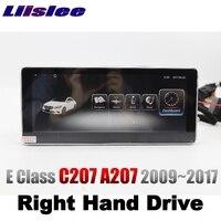 LiisLee автомобильный мультимедийный плеер NAVI для Mercedes Benz MB E C207 A207 RHD 2009 ~ 2017 купе правый радио gps навигация