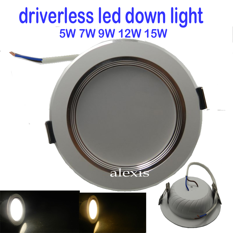 20 unids / lote LED Downlight CE sin conductor 220 V regulable 5W / - Iluminación LED