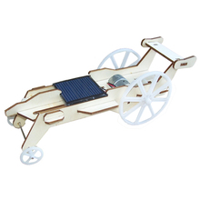 New Wooden DIY Assembled Plywood Solar Car Toy Lunar Rover Solar Panel Power For Child Kids DIY Scientific Educational Kits Gift
