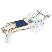 Nouveau En Bois DIY Assemblé Contreplaqué Solaire Voiture Jouet Rover Lunaire Panneau solaire Puissance Pour Enfant Enfants DIY Éducation, la Science Kits cadeau
