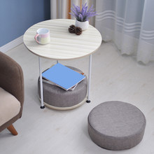 Modern End Table and Cushion Set Household Portable Removable Metal Table Sofa Cotton Cushion Suit Decorating Table Furniture(China)