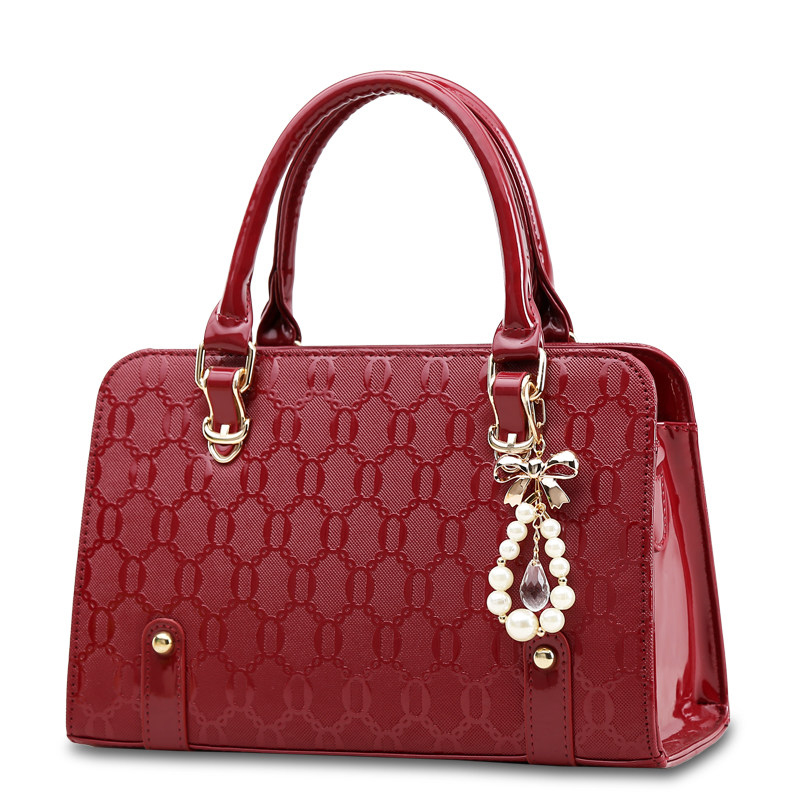 Fashion Embossing PU Leather Luxury font b Handbag b font Women Classy Designer Hard Large Bag