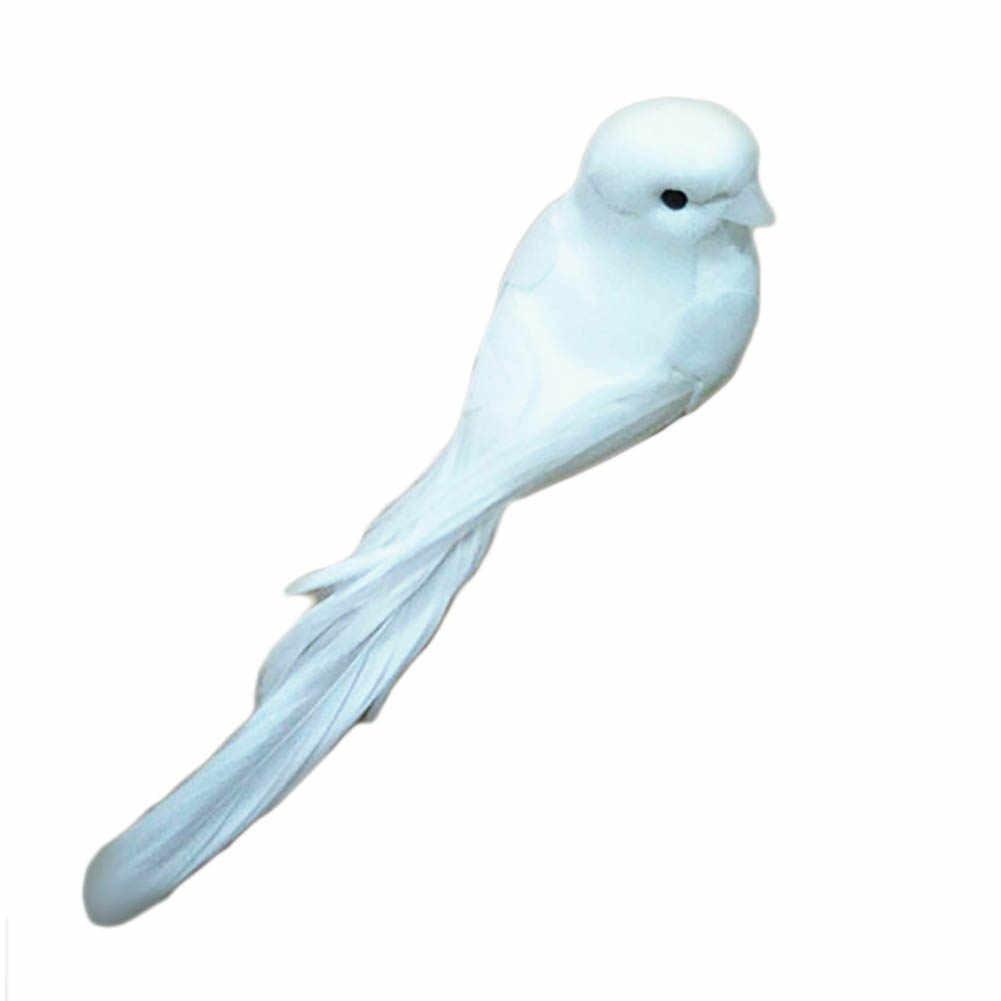 1 חתיכה מקסים דקורטיבי יונים מלאכותי קצף נוצת מיני לבן מגנט קרפט ציפורים מקרר מגנט