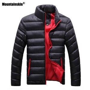 Image 4 - Mountainskin חורף גברים מעיל 2020 מותג מקרית Mens מעילי מעילי עבה Parka גברים להאריך ימים יותר 6XL מעיל זכר בגדים, EDA104