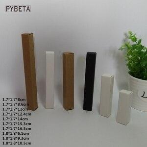 Image 1 - 100 pces caixa de papel kraft em branco papel preto delineador de papel caneta batom caixas de embalagem de presente